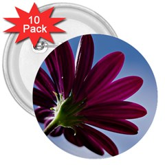Daisy 3  Button (10 Pack)
