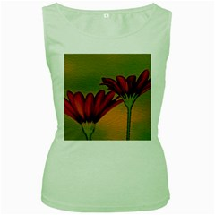 Osterspermum Womens  Tank Top (Green)