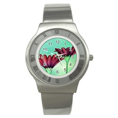 Osterspermum Stainless Steel Watch (Unisex)