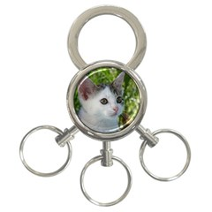 Young Cat 3-Ring Key Chain