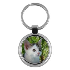 Young Cat Key Chain (Round)