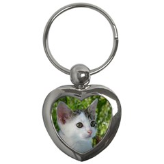Young Cat Key Chain (Heart)