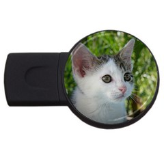 Young Cat 1GB USB Flash Drive (Round)