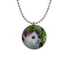 Young Cat Button Necklace