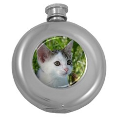 Young Cat Hip Flask (Round)