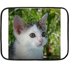 Young Cat Mini Fleece Blanket (two Sided)