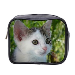 Young Cat Mini Travel Toiletry Bag (Two Sides)