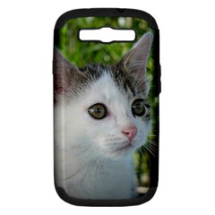 Young Cat Samsung Galaxy S III Hardshell Case (PC+Silicone)