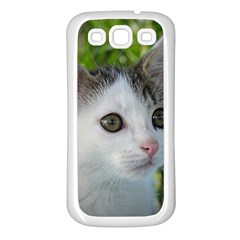 Young Cat Samsung Galaxy S3 Back Case (White)