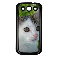 Young Cat Samsung Galaxy S3 Back Case (Black)