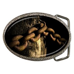 Chain Belt Buckle (oval)