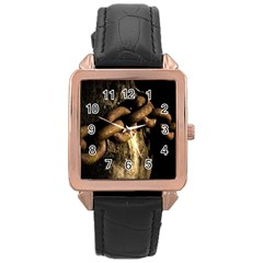 Chain Rose Gold Leather Watch
