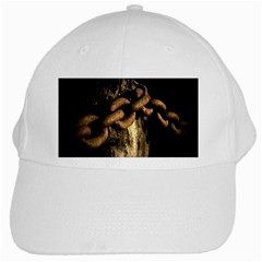 Chain White Baseball Cap