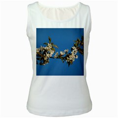Cherry Blossom Womens  Tank Top (White)