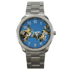 Cherry Blossom Sport Metal Watch
