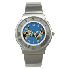 Cherry Blossom Stainless Steel Watch (unisex)