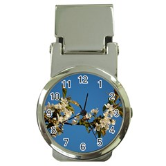 Cherry Blossom Money Clip with Watch