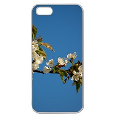 Cherry Blossom Apple Seamless iPhone 5 Case (Clear)