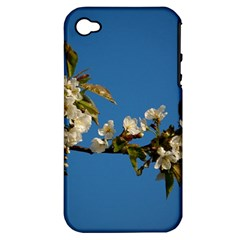 Cherry Blossom Apple Iphone 4/4s Hardshell Case (pc+silicone)