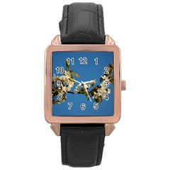 Cherry Blossom Rose Gold Leather Watch