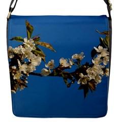 Cherry Blossom Flap closure messenger bag (Small)