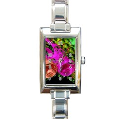 Tubules Rectangular Italian Charm Watch