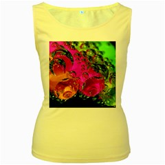 Tubules Womens  Tank Top (yellow)