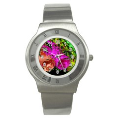 Tubules Stainless Steel Watch (Unisex)