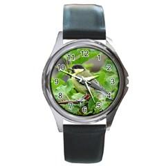 Songbird Round Metal Watch (silver Rim)
