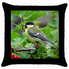 Songbird Black Throw Pillow Case