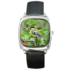 Songbird Square Leather Watch