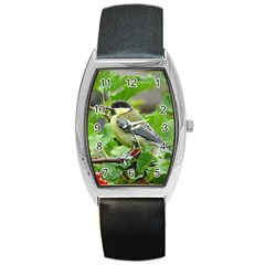 Songbird Tonneau Leather Watch