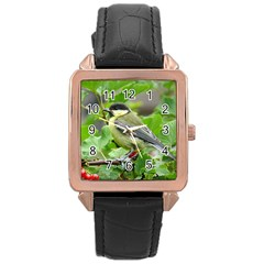 Songbird Rose Gold Leather Watch