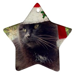 Christmas Kitty Star Ornament (two Sides)