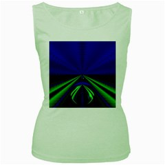 Magic Balls Womens  Tank Top (Green)