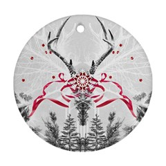 Christmas Collage Round Ornament