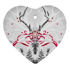 Christmas Collage Heart Ornament