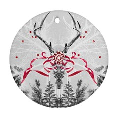 Christmas Collage Round Ornament (two Sides)