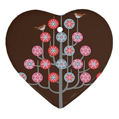 For the birds Heart Ornament (Two Sides)