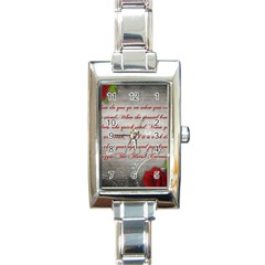 Maggie s Quote Rectangular Italian Charm Watch