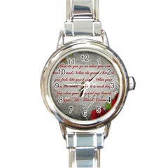Maggie s Quote Round Italian Charm Watch