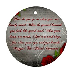 Maggie s Quote Round Ornament