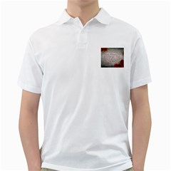 Maggie s Quote Mens  Polo Shirt (White)