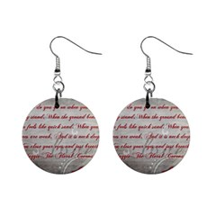 Maggie s Quote Mini Button Earrings