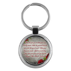 Maggie s Quote Key Chain (round)