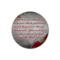 Maggie s Quote Drink Coasters 4 Pack (Round)