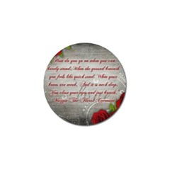 Maggie s Quote Golf Ball Marker
