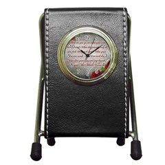Maggie s Quote Stationery Holder Clock