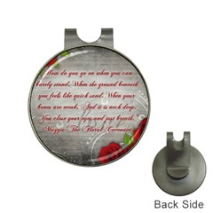 Maggie s Quote Hat Clip With Golf Ball Marker