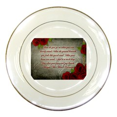 Maggie s Quote Porcelain Display Plate